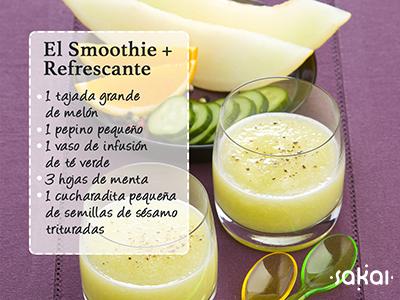 El smooghie más refrescante, receta exclusiva Sakai