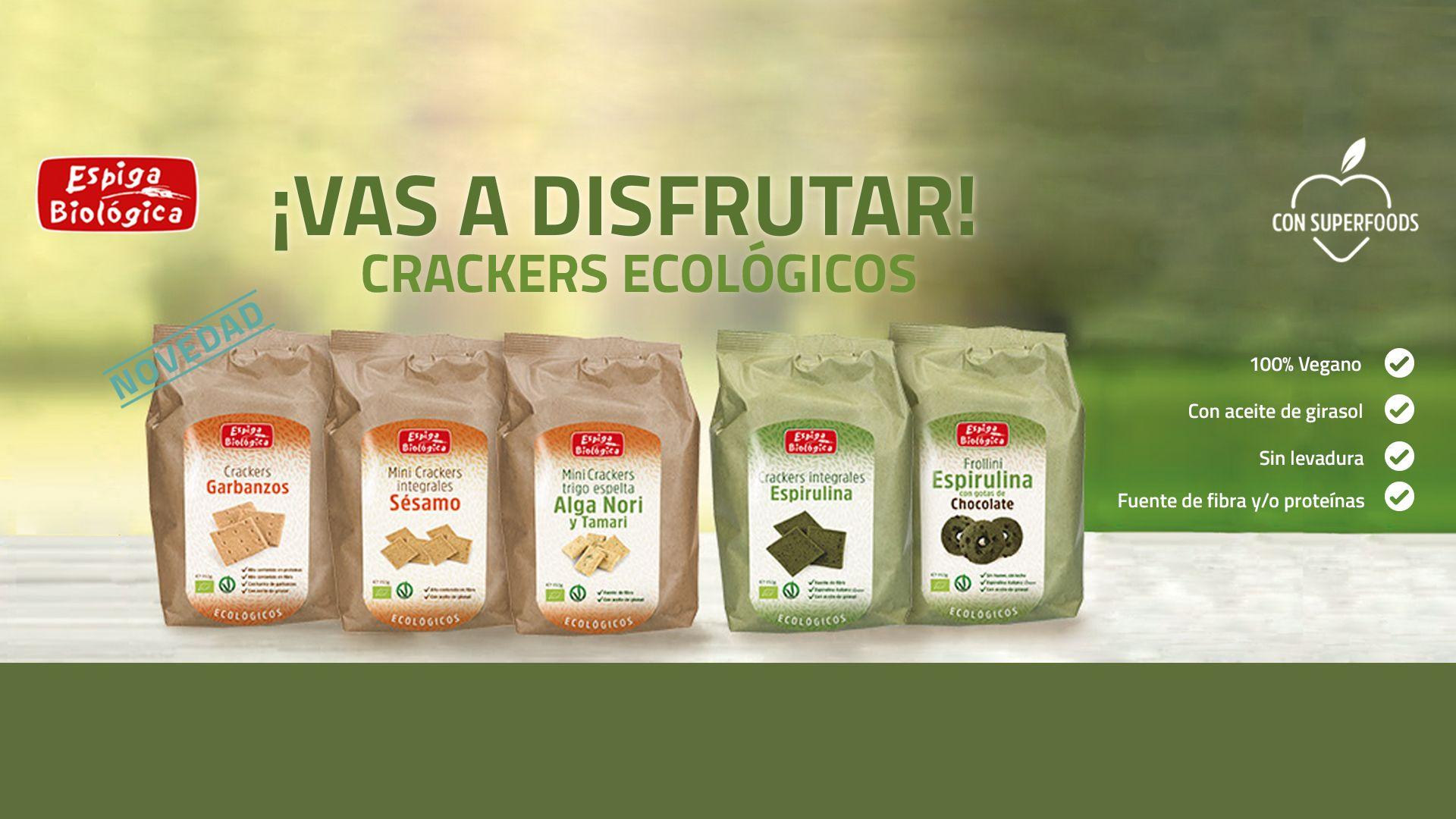 Crackers ecológicos con superfood 100% veganos